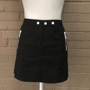 Arden B.  Black & White Polkadot Mini Skirt 4